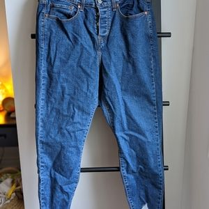 Washed but never worn wedgie Levis